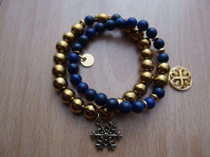 gold hematite, lapis lazuli