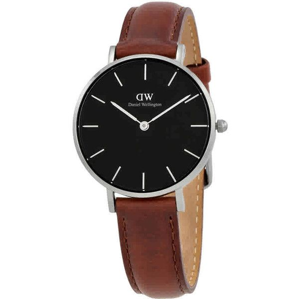 Daniel Wellington Classic Petite St Mawes Ladies Watch ($90) ❤ liked on Polyvore featuring jewelry, watches, stainless steel jewellery, daniel wellington watches, daniel wellington, silvertone jewelry and stainless steel jewelry