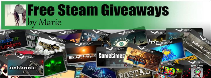 Win 5x 10 Euro Gift Cards  More than 1800 free steam games every month. Join the friendly community and win 60 free steam games daily.  http://www.free-steam-giveaways.com
