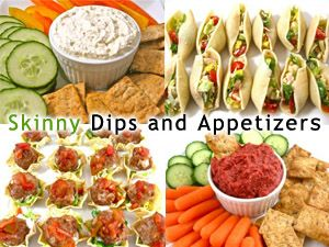 Skinny Dips and Appetizers for the 4th of July! I'm sharing some really delectable starters for your gathering. From tasty dips to bite size appetizers try one or even make a few. All are very easy to make and can be prepared in advance. http://www.skinnykitchen.com/recipes/skinny-dips-and-appetizers-for-the-4th-of-july/