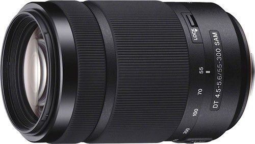 Sony - DT 55-300mm f/4.5-5.6 A-Mount Telephoto Zoom Lens - Black