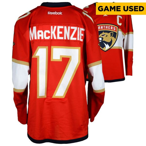 Derek MacKenzie Florida Panthers Fanatics Authentic Game-Used #17 Red Set 1 Jersey From The 2016-17 NHL Season - Size 54 - $799.99