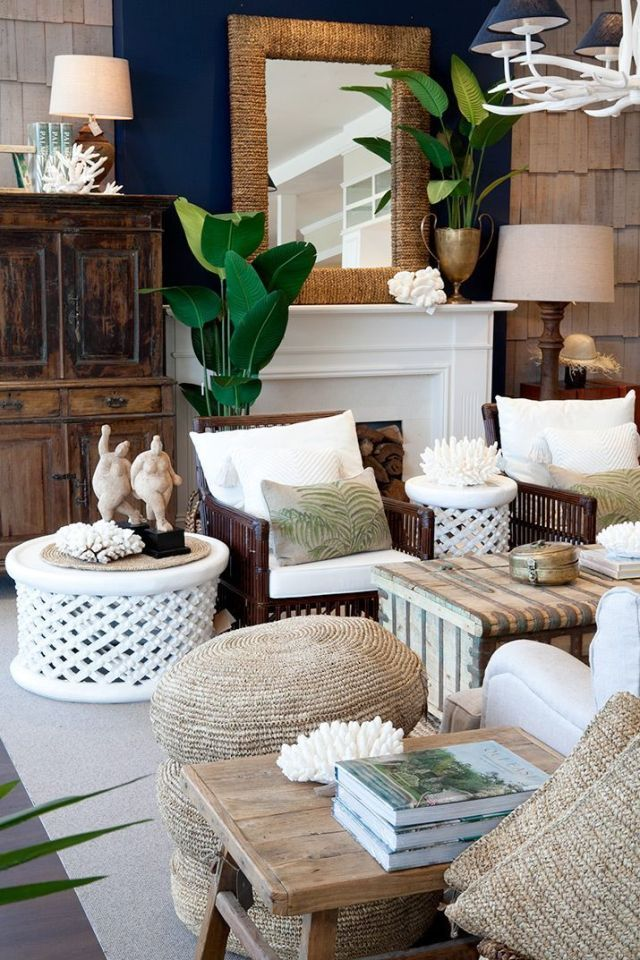 Tropical Style Living Room Coastal Decorating Living Room Summer Living Room Decor Tropical Living Room