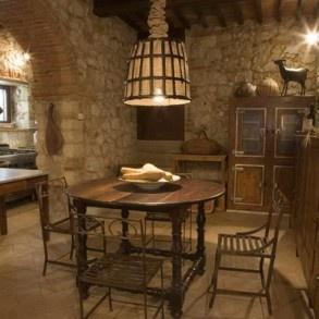 The summer kitchen at Villa  Aia Tuscany.