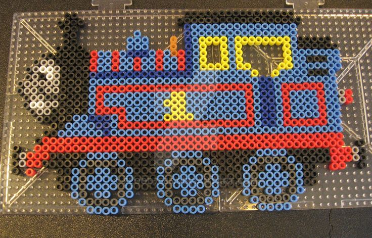 A perler bead character I made for one of my student's birthday this past year. An original design by me. Thomas the Train and The Railway Series belong to Reverend Wilbert Awdry (original books) a...