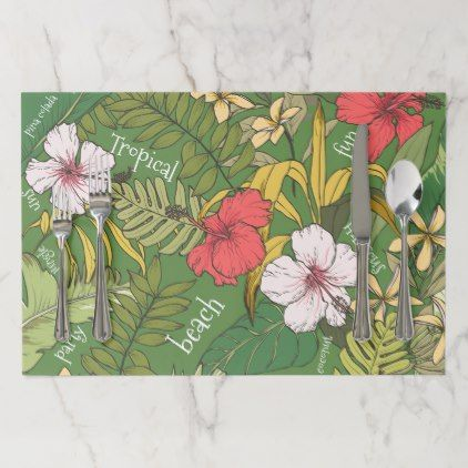 Tropical Placemat - elegant gifts classic stylish gift idea diy style