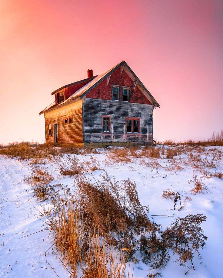 ***Sunset At Abandoned House (near Vegreville, Alberta) By