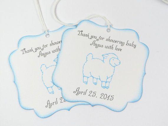 Faveur de douche bébé agneau tags étiquettes par WildSugarberries