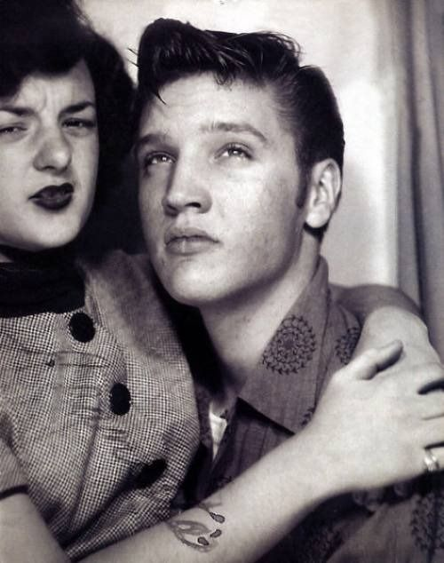 Elvis Presley in a photo booth