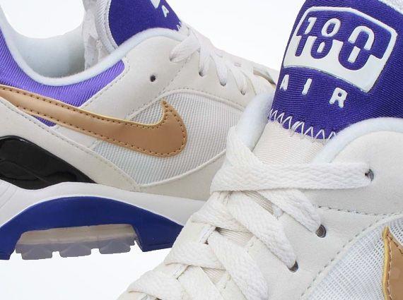 Nike Air Max 180 – Summit White – Metallic Gold – Bright Concord