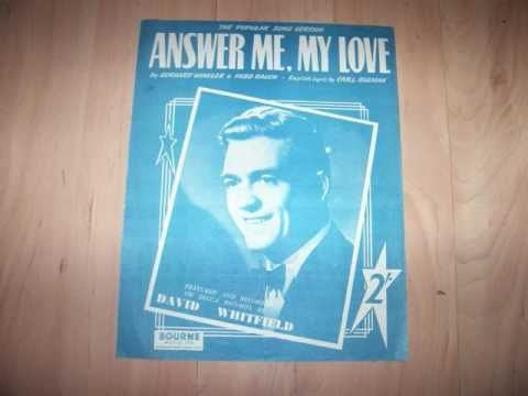 David Whitfield - Answer Me (1953)