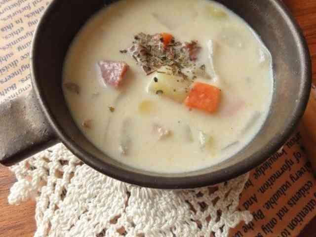 簡単♪ゴロゴロ野菜のマイルド豆乳スープの画像