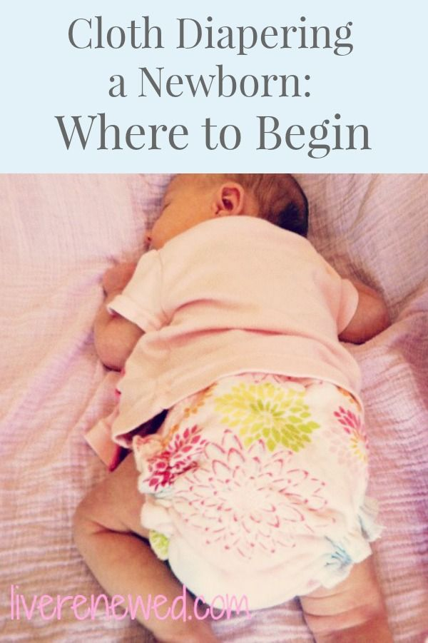 Pregnant or have a newborn and interested in #clothdiapers? Cloth Diapering a Newborn: Where to Begin from LiveRenewed.com