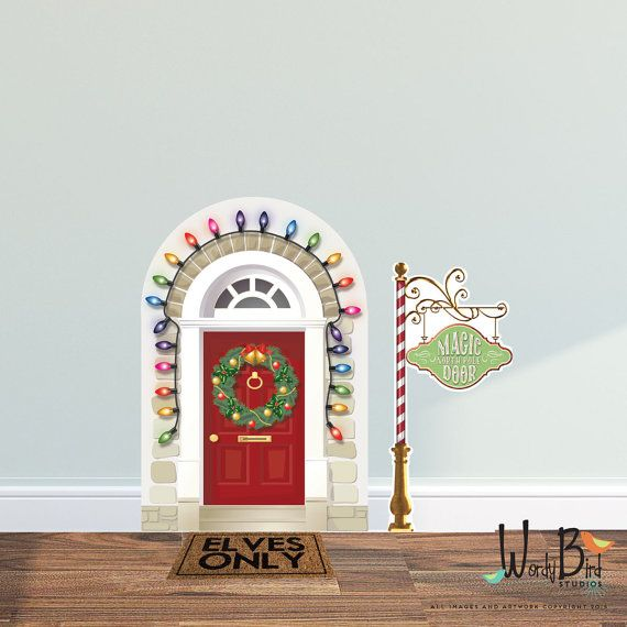 Imagine your childs surprise when this little elf door way to the North Pole magically appears in your home this season....so this is how your