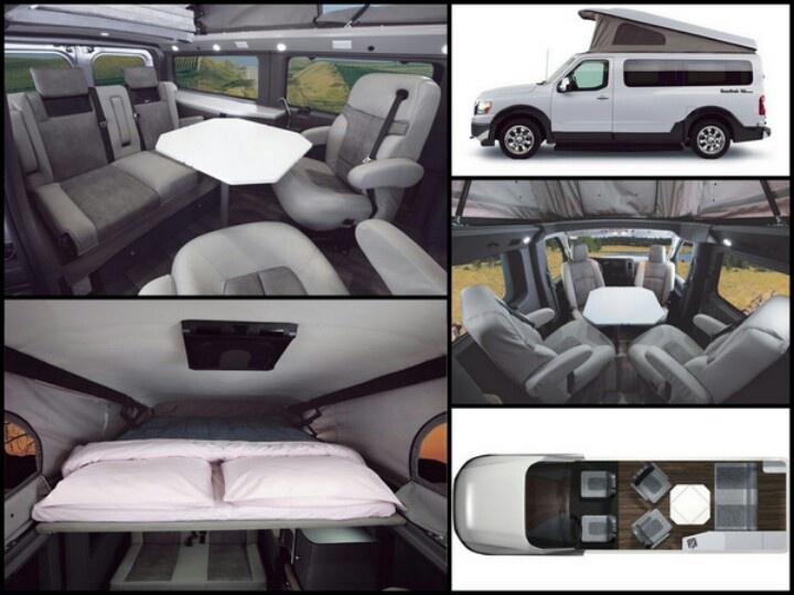 Roadtrek RV conversion of the Nissan NV2500. Credit ...