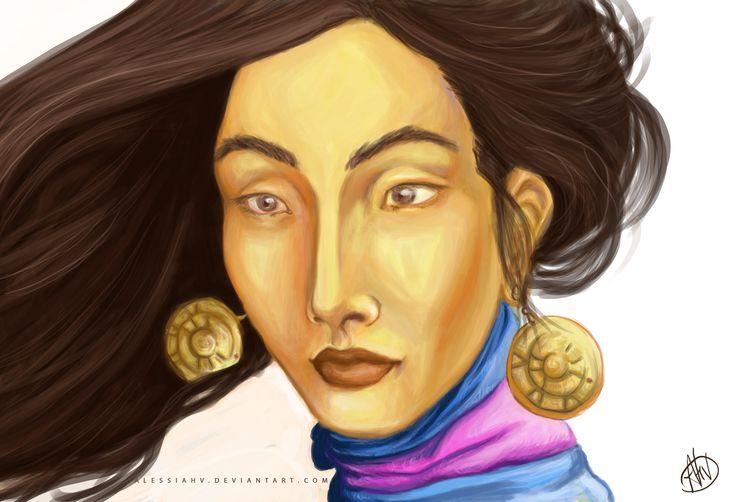 Alessia H.V., 'Woman face', digital 2014.