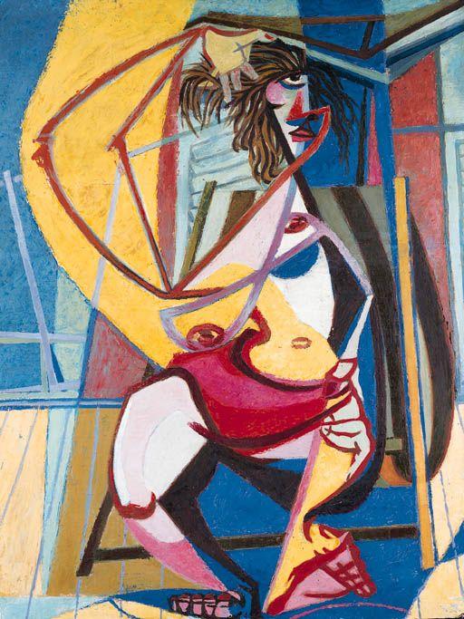 Enrico Prampolini - Cassandra la mare - 1947 ca. - olio su tavola - cm 117x88 - Roma coll. Capogrossi