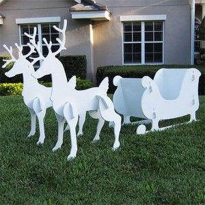 reindeer are awesome how easy would this be i want some in christmas yard decorationschristmas - Christmas Reindeer Decorations