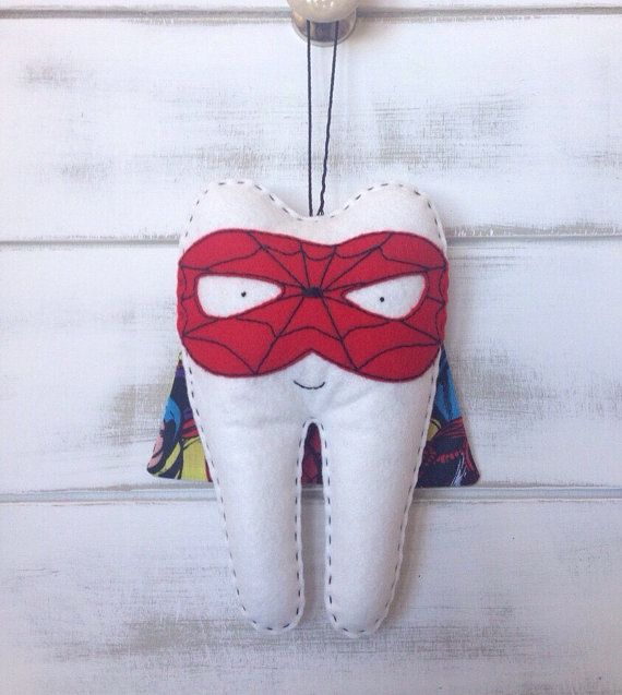 Personalized boys superhero tooth fairy pillow by for Batman fairy door