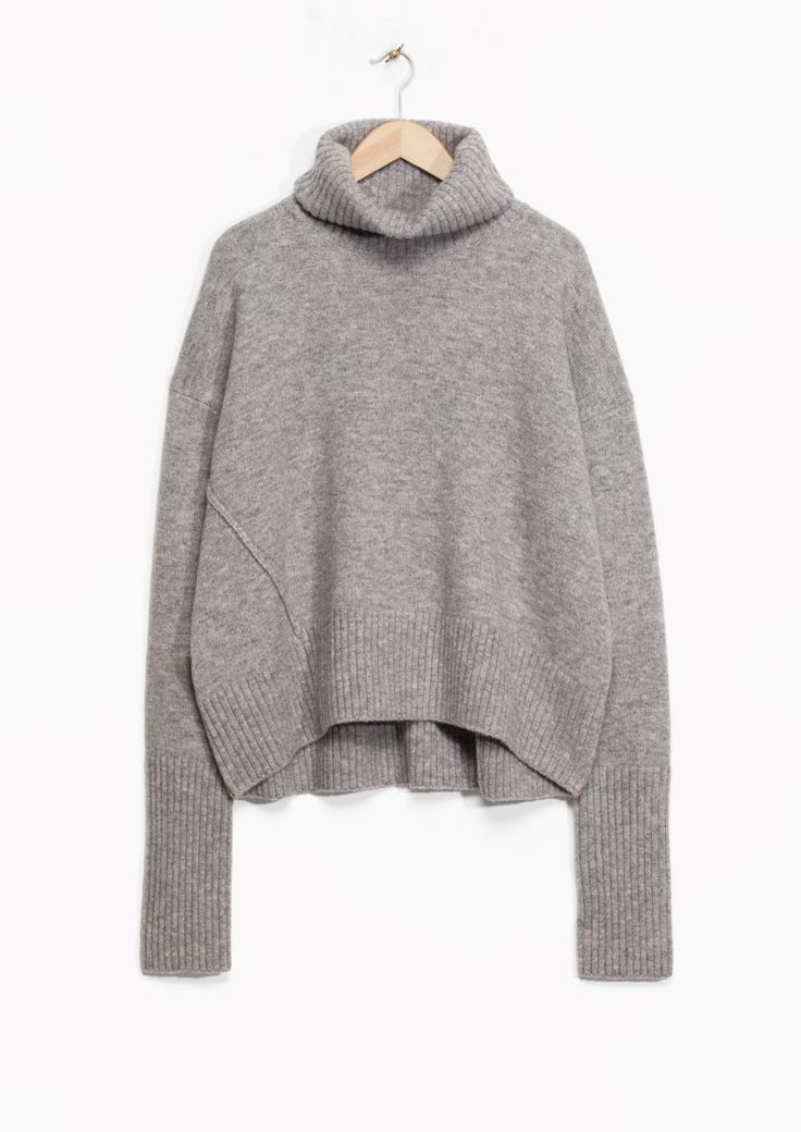 & Other Stories image 1 of Turtleneck Sweater in Grey