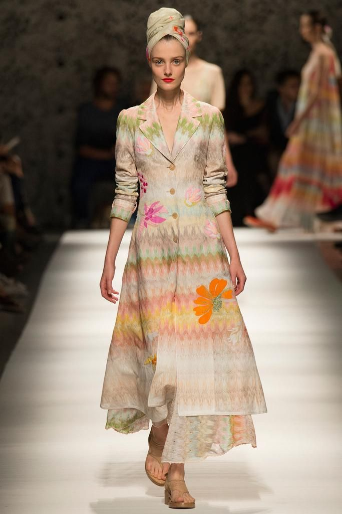 Missoni Spring 2015 Ready-to-Wear - Collection - Gallery - Look 1 - Style.com. flowers with zigzags