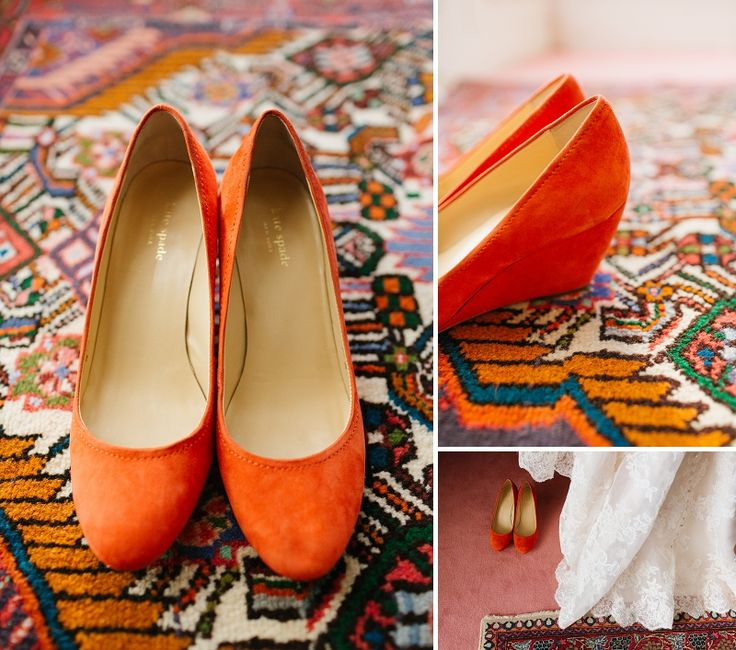 low heel, wedge, easy outdoor wedding shoes; if were cream instead of orange would be great. These look like @Amy Lyons Lyons Johnson shoes!!!