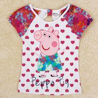 Polera corazones Peppa Pig, Tallas 18 meses a 6 años, Valor 7.990.-