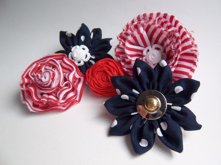Different Printed Texture Fabric Flower Brooches | Trendy Mods.Com