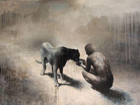 Visual artist Samuli Heimonen THIRST. Acrylic and oil on canvas. 2011