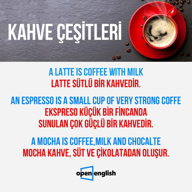Sizin en sevdiğiniz kahve çeşidi hangisi? In English! =)  #OpenEnglish