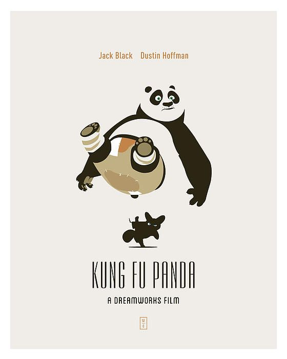 Kung Fu Panda Minimal movie poster