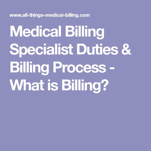 Medical Billing Specialist Duties & Billing Process - What is Billing?
