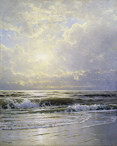 """""""Morning, Sea View"""" by William Trost Richards, an important American landscape artist, 1833-1905"""