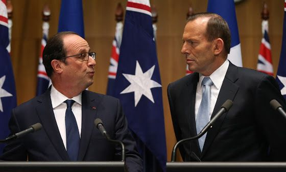 Australian support for France's nuclear force