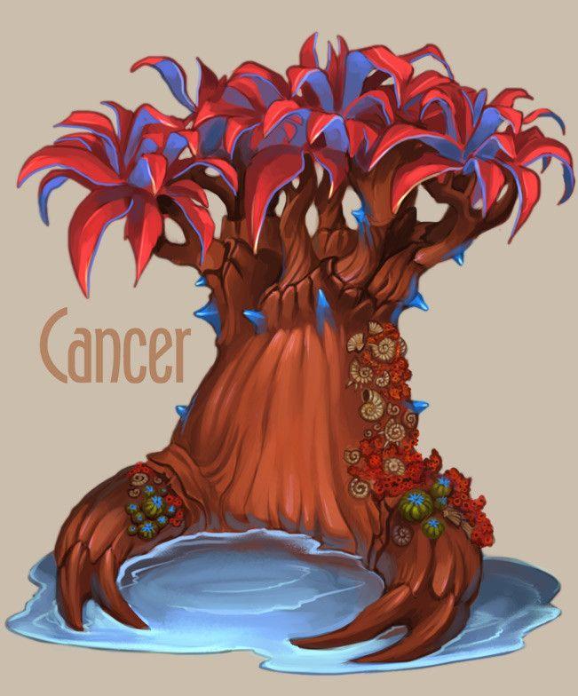 ArtStation - Amazing trees - Zodiac, Alexandra Semushina