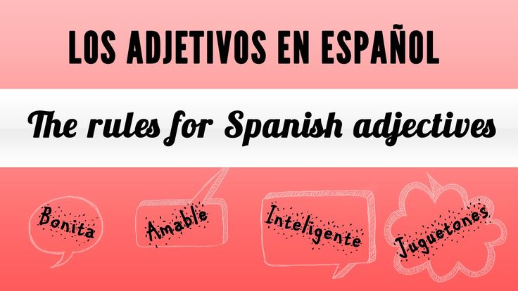 "This video is part of a lesson about Spanish adjectives. It explains the rules to use adjectives in Spanish, called ""adjetivos"", in simple sentences. It covers what are adjectives in Spanish, where they are placed in a sentence, as well as Spanish adjective gender and plural form. You will see and listen to several examples using ""adjetivos"" and also a simple description at the end of the video.Esperamos que te sea útil  :)"