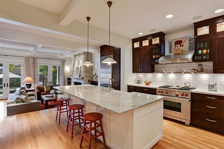 Transitional Kitchen With Breakfast Bar Daltile