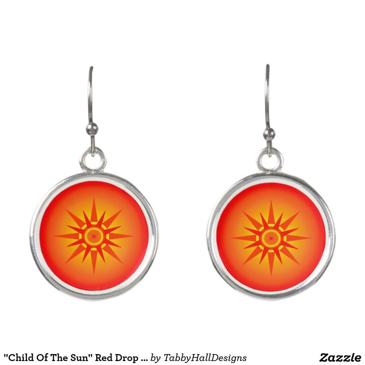 """Child Of The Sun"" Red Drop Earrings. Regalos, Gifts. #DiaDeLasMadres #MothersDay"
