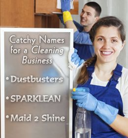 Catchy name suggestions for your cleaning business