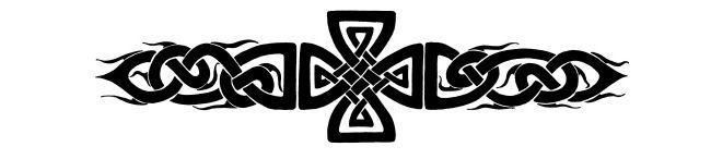 Tribal Celtic Cross Lower Back Tattoo – My Tribal Ink