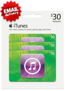 what a great offer for you now you could buy US iTunes gift card $30 with Paypal or other credit cards from MyGiftCardSupply. just keep in touch with us and get your most favorite US iTunes gift card.