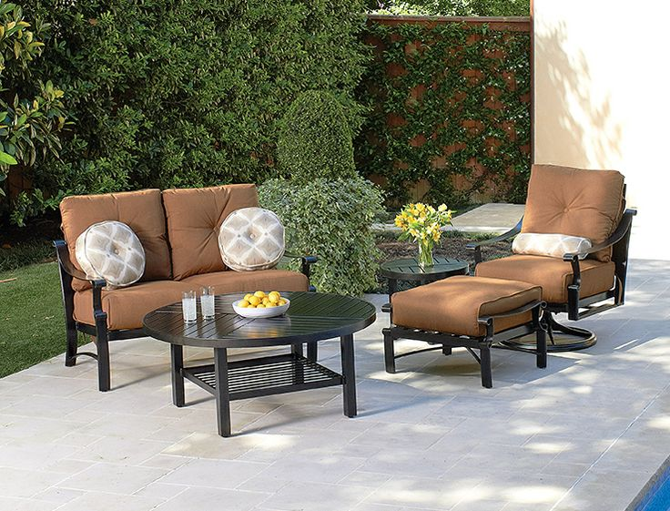 Aluminum Deep Seating Furniture With Sunbrella Cushions.