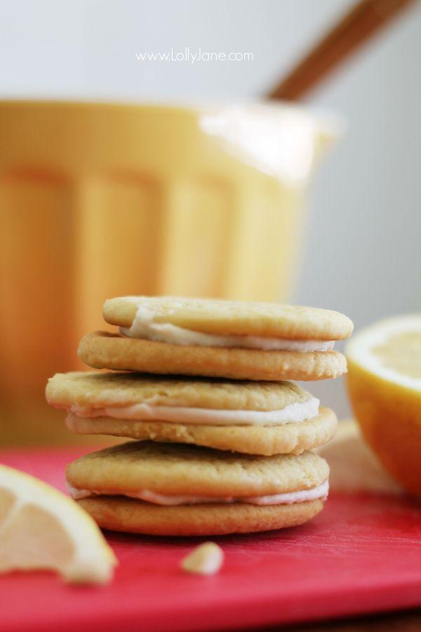 Pink Grapefruit Sandwich Cookies, SO yummy!! @Lauren Davison Jane Jane ...