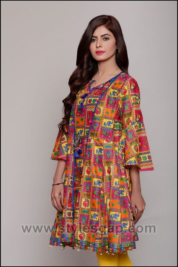 de6cbfee7 Summer Fashion Lawn Kurti Designs Trends Latest Collection 2018-2019 ...