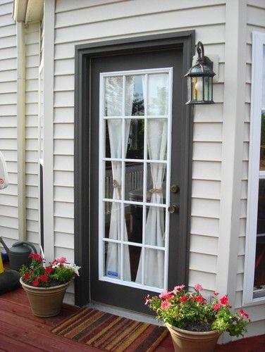 French Door Curtains for deck door
