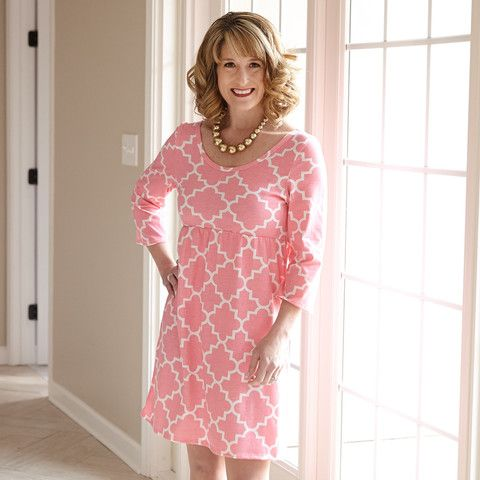 Ladies Pink Lattice Knit Olivia Dress – Lolly Wolly Doodle