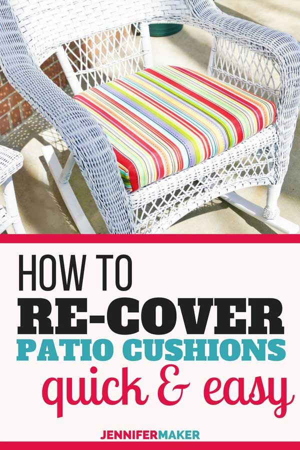 Diy Patio Furniture Cushions, How To Make Seat Cushions For Outdoor Furniture