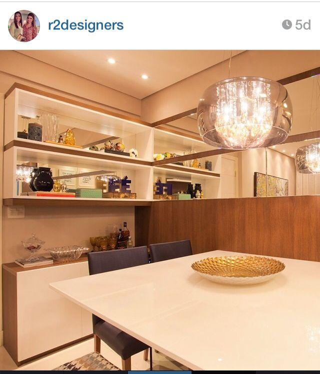 Sala De Jantar Pequena ~ Sala de Jantar Pequena e Elegante  Fonte Instagram