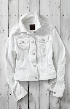 The Essential White Denim Jacket #TheLimited #WhiteDenimJacket