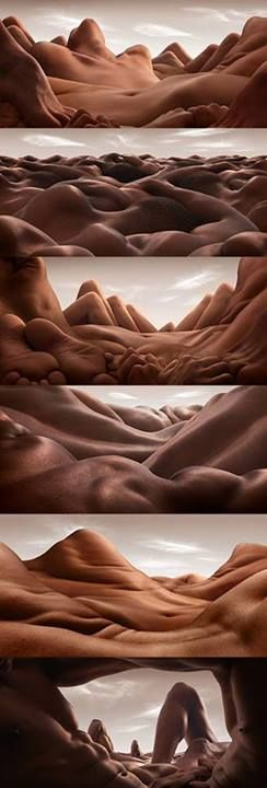 Bodyscapes by Carl Warner. Had to post! So crazy and awesome!